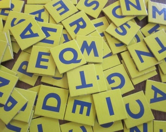 101 Yellow Alphabet ABC Letter Game Tiles