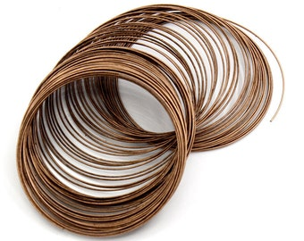 25/50 Loops Antiqued Copper Steel Memory Wire