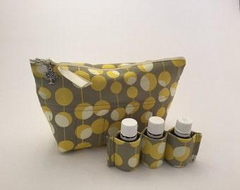 Essential Oil Carrying Case, Oil Storage, Essential Oil Holder, Oil Bag, Martini Mustard, 14 Bottles