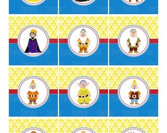 Printable Snow White Cupcake Toppers