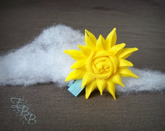 Sun Ribbon Sculpture Hair Clip, Summer Hair Bow