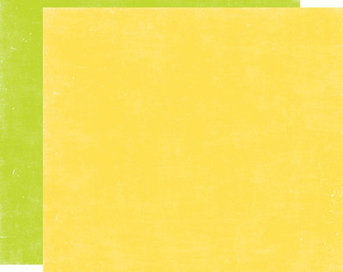 2 Sheets of Echo Park Paper A PERFECT SUMMER 12x12 Scrapbook Paper - Yellow/Green