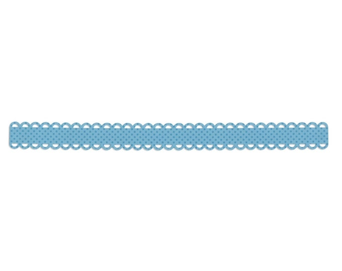 Sizzix Sizzlits Decorative Strip Die - Loopy Scallops by Doodlebug Design