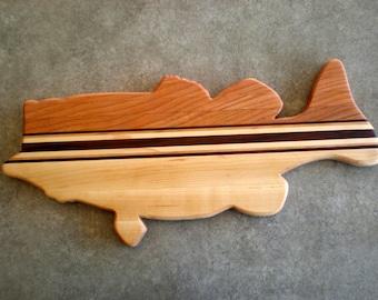 Wooden cutting board solid walnut cutting board by for Fish cutting board