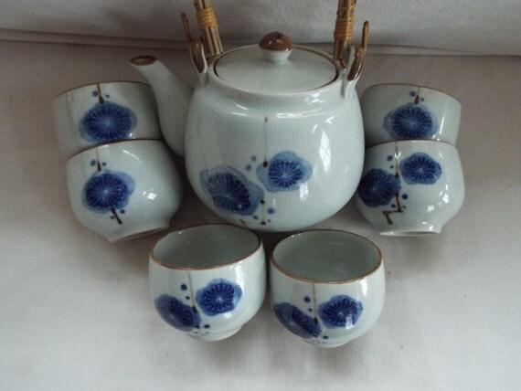 Modern Hand Painted Otagiri Japanese Tea Set By OnWinstonLane