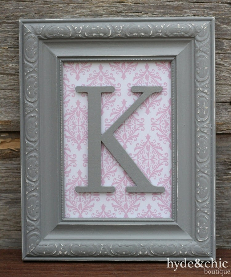Baby Girl Nursery Wall Letter Monogram By