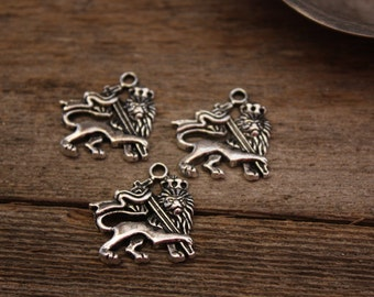 Pewter Royal Lion Charms