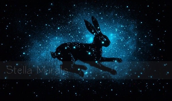Lepus the Hare Constellation Art Glow in the Dark Star