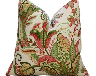 "20"" Schumacher Clarendon Pillow Cover in Orchard"