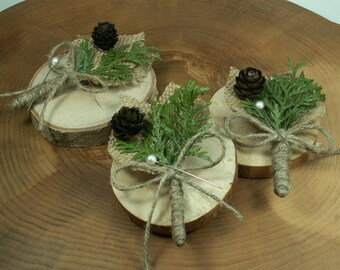 Rustic Boutonniere - 9 Groom and groomsmen boutonniere, Natural Boutonniere