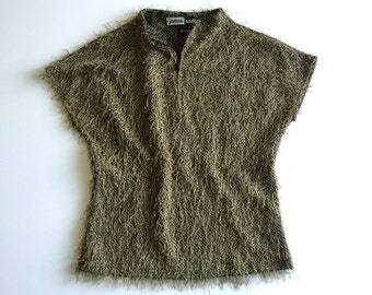 Fuzzy Short Sleeved Top