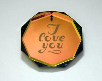 Vintage Swarovski Art # 6402/2 Vitrail Medium Pendant - 44 mm