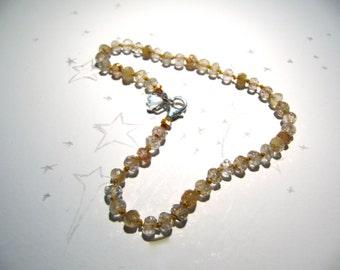 Crystal Cave: faceted golden rutile quartz bracelet