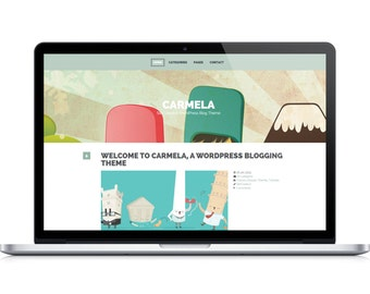 Carmela- Responsive WordPress Theme for Personal Creative Blogs