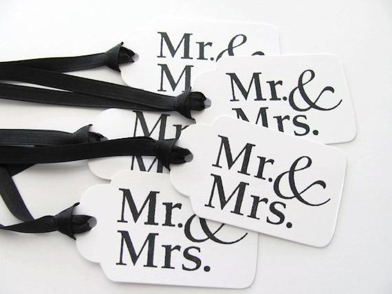 Mrs Mrs Wedding Gifts: Items Similar To Mr. & Mrs. Wedding Gift Tags, Wishing