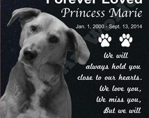 Any Pet Headstone,  Memorial grave Marker.  Included Free photo editing service