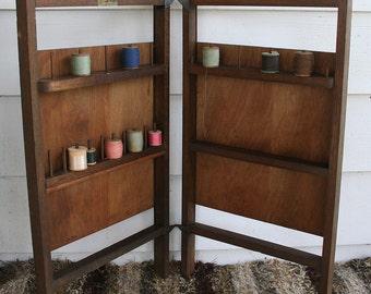 Vintage Sew Tidy Folding Thread Spool Cabinet Caddy