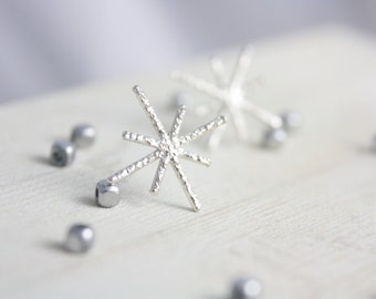 Sterling silver twinkle earrings, silver earrings, earrings, stud earrings, star earrings, jewelry, summer, gift for her, holiday, women