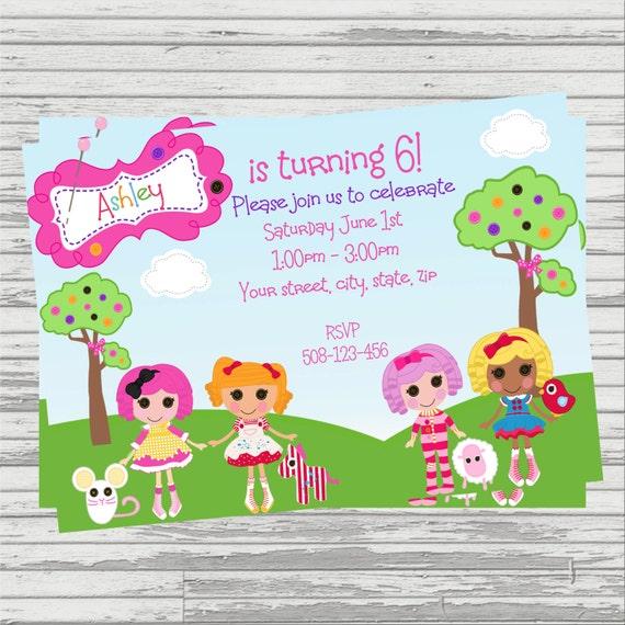 Lalaloopsy DIGITAL Birthday Invitation – Lalaloopsy Birthday Invitation