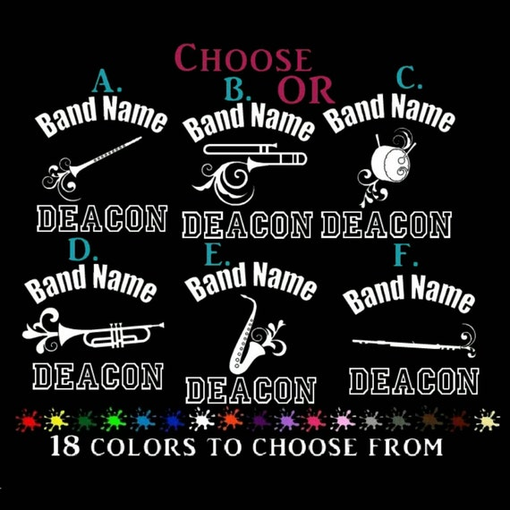 Marching band 6 car decal custom personalized any by