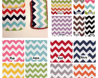 CHEVRON Diaper Pouch AND Matching Wipes Case. 13 Chevron options.