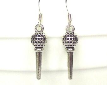 Golf ball earrings - Golf Tee earrings - Golfer's gift - Golf lovers gift - Golfing gift for her - Novelty earrings - Stocking filler - UK