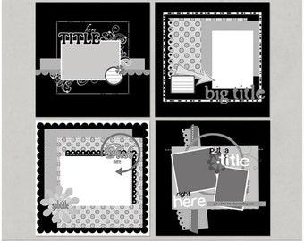 Angie'licious Set 1 12x12 Digital Scrapbooking Templates