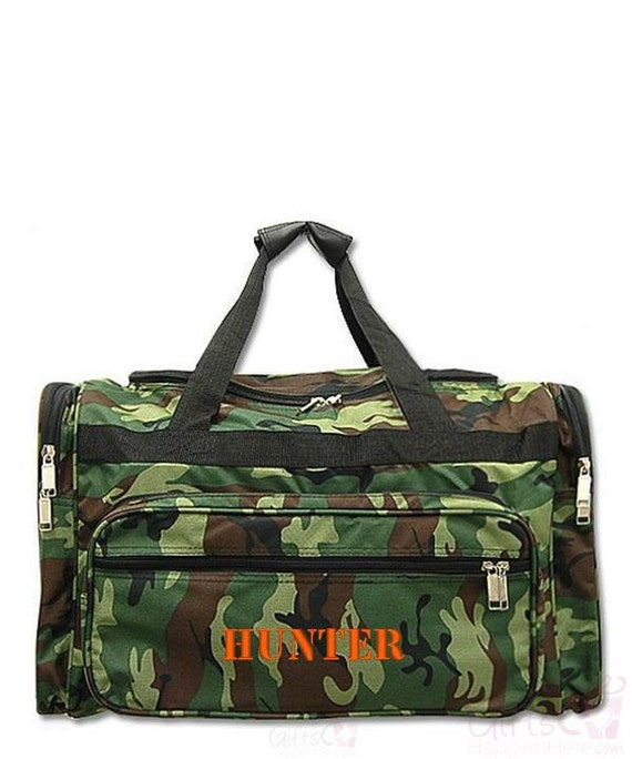 Duffle bag monogrammed personalized army camo by