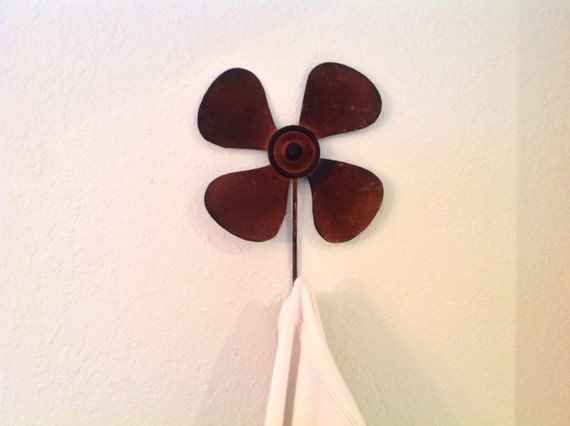 Rustic Metal Wall Hooks Decor Propeller Amp Windmill