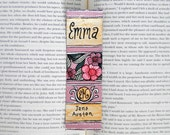 Emma Hand Painted Bookmark // Classic Hardcover // Book Spine Bookmark // Jane Austen // Gift for Readers // Book Club Gift