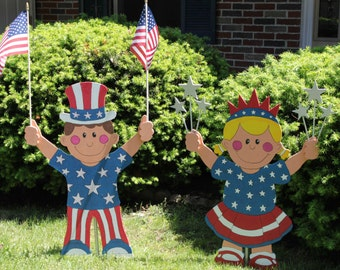 Patriotic Boy and Girl