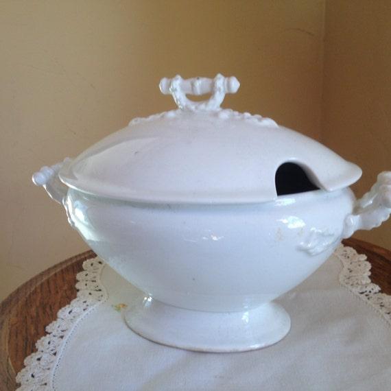 Antique Beautiful Serving Bowl Soup Tureen John Maddock Amp Sons