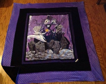 Tim Burtons the Nightmare Before Christmas blanket - adult size-Perfect for all ages