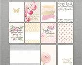 Little Lamm & Co, Digital, Bloom,  Journal Cards PNGS and Printables