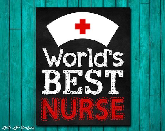 Nurse Gift World S Best Nurse Art Nurse Appreciation