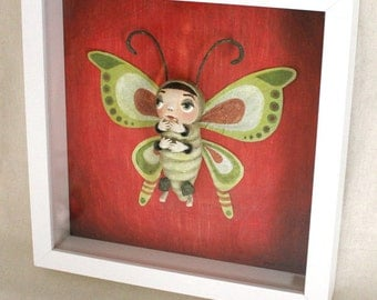 """framework """"Green and Red Butterfly"""""""