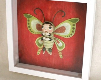 """Framework showcase """"Green and Red Butterfly"""""""