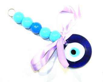 C-0537 - 4cm Lucky Evil Eye  Wall Hanging Handmade Design