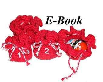 E-Book Häkelanleitung Adventskalender Säckchen
