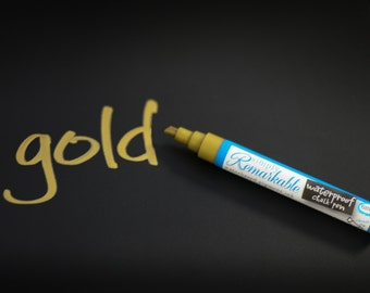 Simply Remarkable GOLD Chalk Marker -  Chalk Ink Chalk Pen - 3 sizes available WATERPROOF