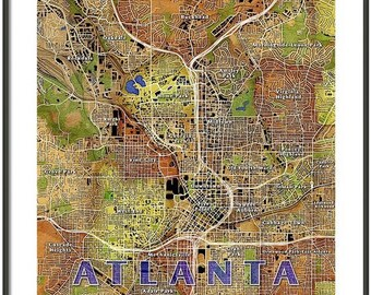 FRAMED Atlanta Map Art