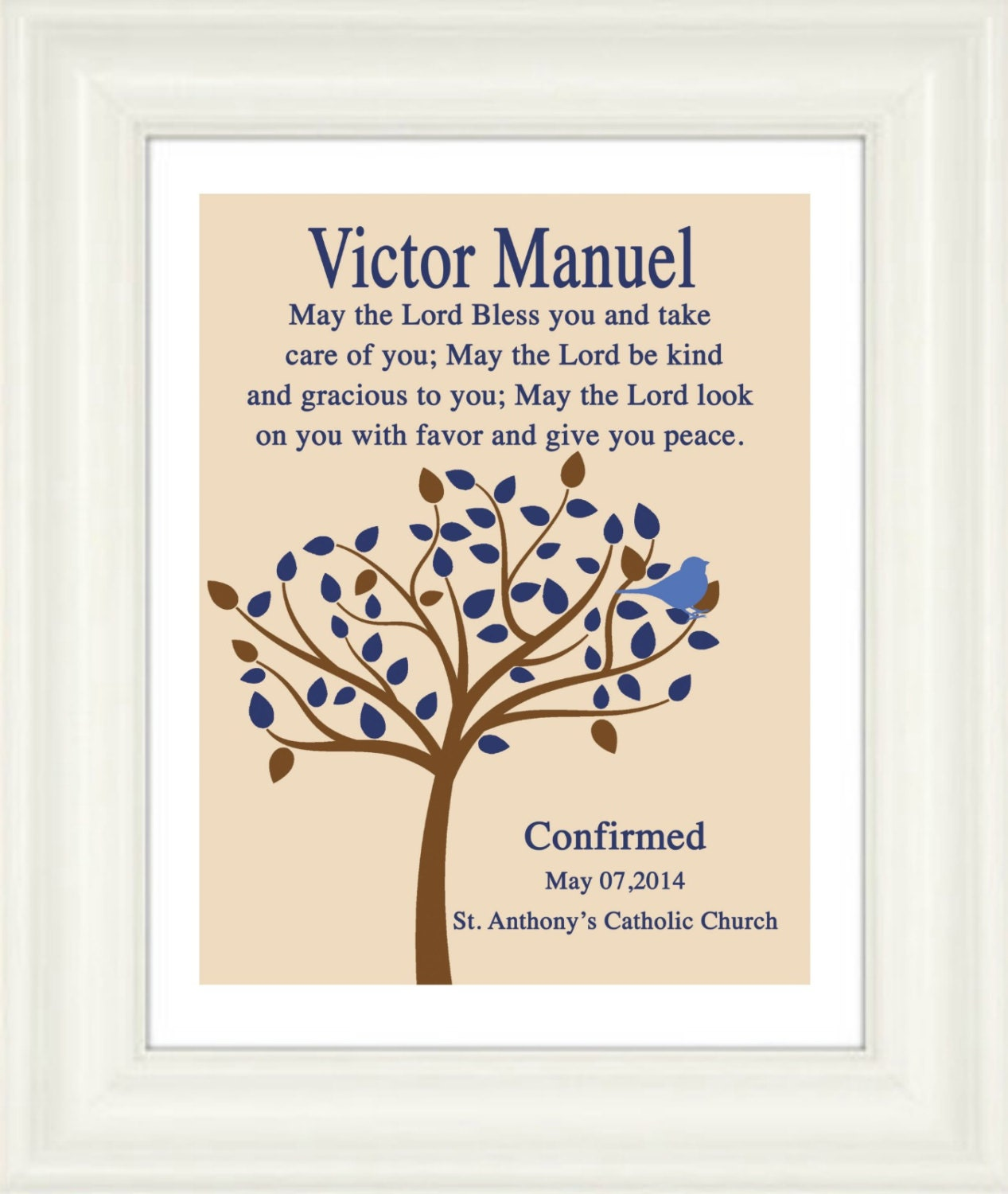 Catholic Confirmation Quotes From The Bible: Personalized Bible Verse Boys Confirmation Print Bible