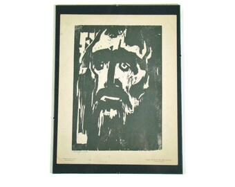 Emil Nolde - Prophet - Gravure Reproduction of a Woodcut