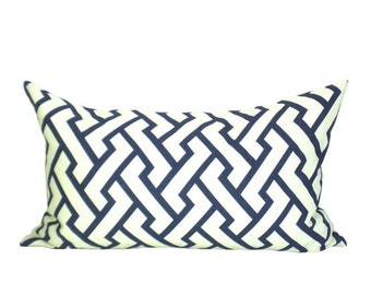China Seas Aga lumbar pillow cover in New Navy