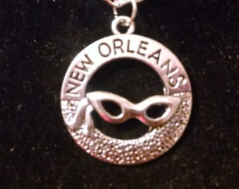 New Orleans Mardi Gras  Necklace ~ Mardi Gras - Mardi Gras Mask ~ New Orleans