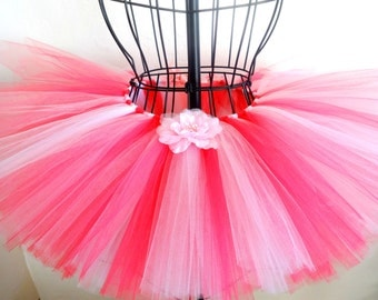 Pink baby tutu, Pink toddler tutu, Girls pink tutu, Custom order, Pink birthday tutu, Baby tutu skirt in pink