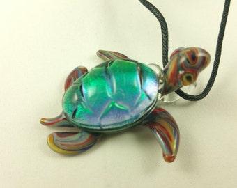 Turtle - Glass Pendant Necklace