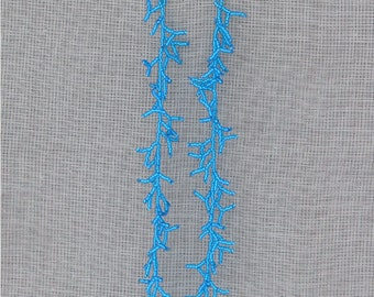 Extra Long Earrings.  Neon Blue Earrings.  Beadwork. Shoulder Duster Earrings. Dangle Earrings