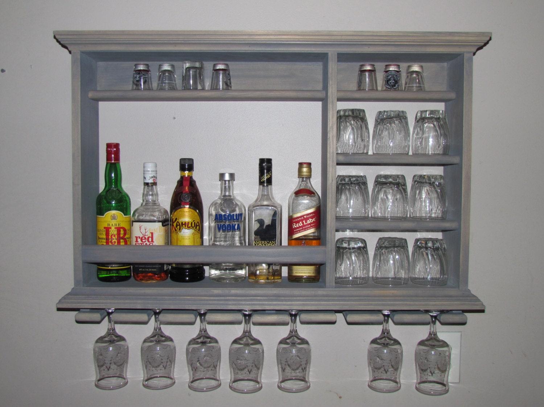 Wall mounted mini bar classic gray 3 39 x 2 39 wall by dogwoodshop for Mini bar wall cabinet