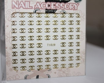 Silver and Gold Nail Sticker